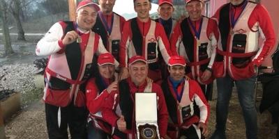 11 03 2018 Terza società classificata al campionato italiano invernale di Fossa Olimpica