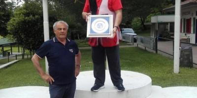 Complimenti anche al mitico Borlini Graziano a Uboldo con 75 su 75 02 06 2016