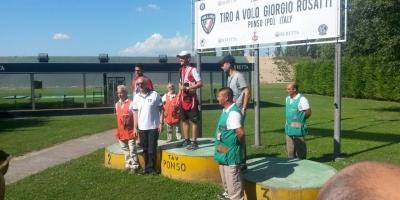 Vittoria Campionato Italiano Double Trap della Trap Pezzaioli  a Ponso. 28/06/2015